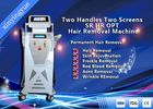 Two Handles Two Screen 2000W Permanent Painless Hair Removal And Skin Rejuvenation SHR IPL Machine