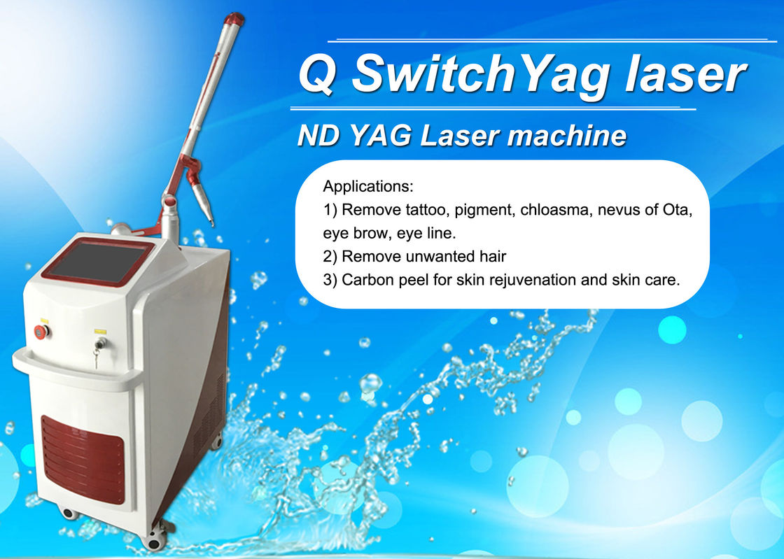 Dual Lamp Q Switched Nd Yag Laser Machine Tattoo Removal